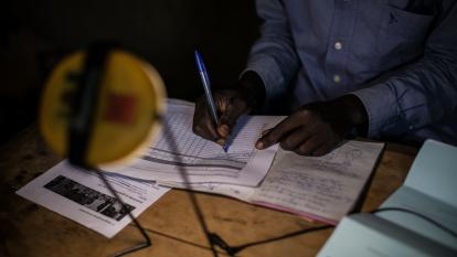 Bookkeeping with solar lantern